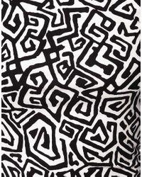 ASOS Collection - Black Asos Bodycon Dress in Yoko Pop Print - Lyst