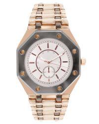 ASOS Collection | Metallic Asos Boyfriend Style Watch with Octagonal Case Detail | Lyst