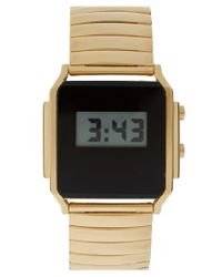 ASOS Collection | Metallic Asos Retro Style Digital Watch | Lyst