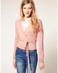 ASOS Collection | Pink Asos Ballet Wrap Cardigan | Lyst