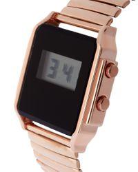 ASOS Collection - Metallic Asos Retro Style Digital Watch - Lyst