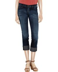 Citizens of Humanity Blue Dani Lowrise Cropped Straightleg Jeans