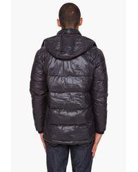 DIESEL - Black Wolta Puffer Jacket for Men - Lyst