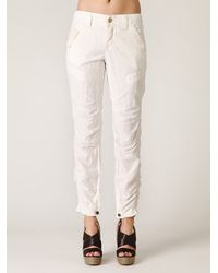 Free People | White Fridas Linen Utility Pant | Lyst
