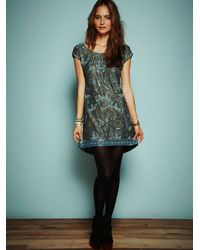 Free People | Blue Rachels Limited Edition Liquid Gold Dress | Lyst