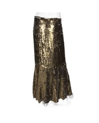 Gryphon - Brown Preorder Exclusive Sequin Maxi Skirt: Gold - Lyst
