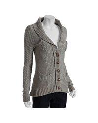 Leifsdottir | Gray Dusk Wool Hiding Place Cardigan Sweater | Lyst