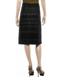Marni - Green Jacquard and Woven Skirt - Lyst