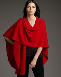 Neiman Marcus | Red Cashmere Shawl | Lyst