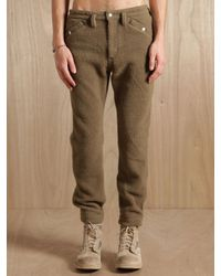 Nonnative - Natural Mens Wanderer Rib Trousers for Men - Lyst
