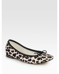 Repetto | Multicolor Bb Animal-Print Leather Ballet Flats | Lyst