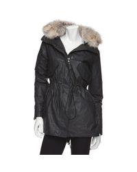 Sam. | Black Camper Jacket with Fur Collar | Lyst
