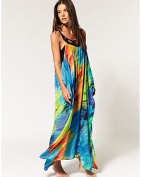 Seafolly | Multicolor Limited Edition Phoenix Print Silk Maxi Dress | Lyst