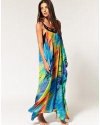 Seafolly - Multicolor Limited Edition Phoenix Print Silk Maxi Dress - Lyst