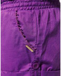Seafolly | Purple Cotton Playsuit | Lyst