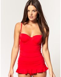 Seafolly - Red Skirted One Piece Swim Suit - Lyst