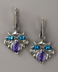 Stephen Webster - Blue Topaz & Quartz Drop Earrings - Lyst