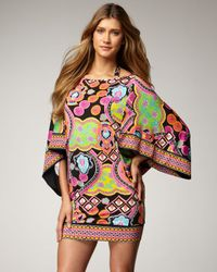 Trina Turk | Black Marrakech Express Printed Tunic | Lyst
