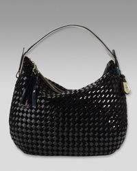 Cole Haan | Black Heritage Weave Patent Hobo | Lyst