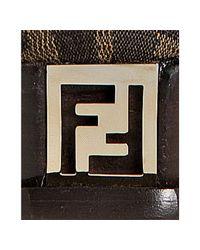 Fendi | Brown Zucca Platform Pump | Lyst