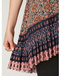 Free People | Brown Fp One Medallion Pleated Tunic | Lyst