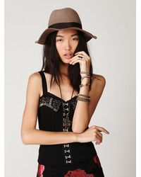 Free People | Black Backstage Pass Corset Top | Lyst