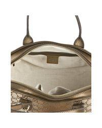Gucci | Bronze Metallic Gg Canvas Heart Bit Bag | Lyst