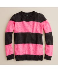 J.Crew | Black Wynter Sweater in Sequin Stripe | Lyst