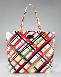 kate spade new york | Multicolor Bon Plaid Shopper | Lyst