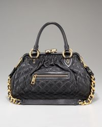 Marc Jacobs | Black Stam Zip Satchel | Lyst