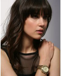 Michael Kors | Gold Plated Watch | Lyst