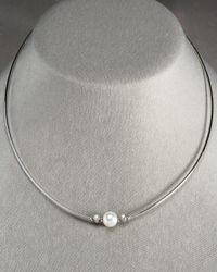 Mikimoto - White Pearl Morning Dew Necklace - Lyst