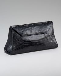 Nancy Gonzalez | Brown Crocodile Envelope Clutch | Lyst