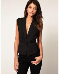ASOS Collection Black Asos Sheer Sexy Waistcoat