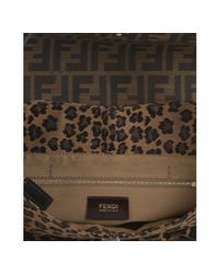 Fendi | Brown Tobacco Zucca and Leopard Canvas Chef Shoulder Bag | Lyst