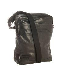 Balenciaga - Black Lambskin Crossbody Bag for Men - Lyst