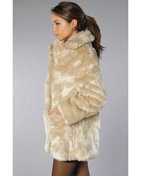 MINKPINK | Natural Double Agent Fur Coat | Lyst