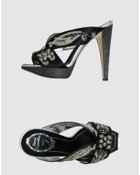 Rene Caovilla | Black Platform Sandals | Lyst