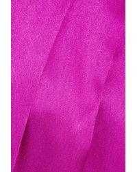 Valentino Roma Purple Pleated Silk Skirt