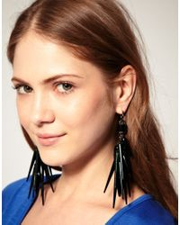 ASOS Collection Blue Asos Spike and Beetle Shell Drop Earrings