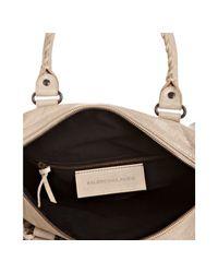 Balenciaga | Natural Beige Lambskin Maxi Twiggy Satchel | Lyst