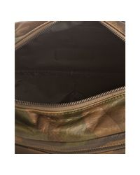 Ben Minkoff - Brown Olive Camo Distressed Leather Stay Clean Dopp Kit for Men - Lyst