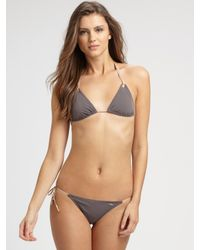 Chloé | Brown Double Tie String Bikini Swimsuit | Lyst