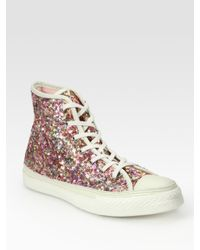 Converse Sequin High-top Sneakers in