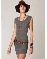 Free People | Gray Side Ruched Tunic | Lyst