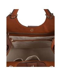 Gucci - Brown Leather Stirrup Top Handle Bag - Lyst