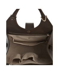 Gucci - Mud Brown Leather Stirrup Top Handle Bag - Lyst