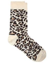Happy Socks - Black Leopard Print Socks for Men - Lyst