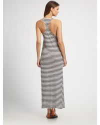 Joie - Blue Striped Linen Maxi Dress - Lyst