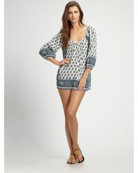 Joie - Blue Marci Printed Coverup - Lyst